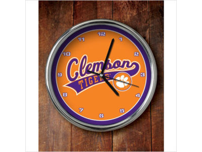 Clemson Tigers Chrome Clock