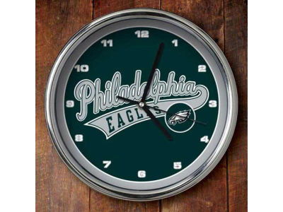 Philadelphia Eagles Chrome Clock