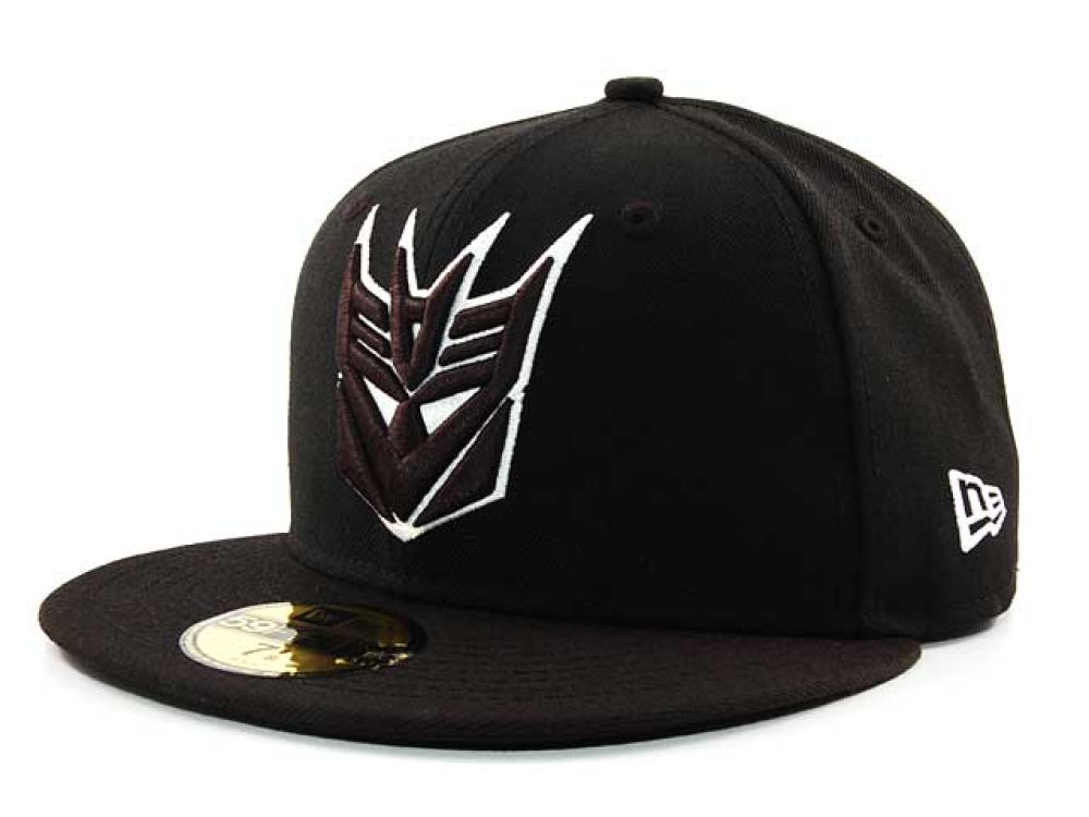 Decepticon Transformers Comic Black and White 59FIFTY Cap  09efc31ee1f