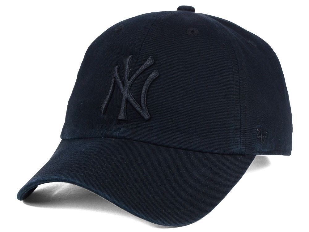7eb6d7ed93bd3f ... netherlands new york yankees 47 mlb black on black clean up cap 23f35  d1411