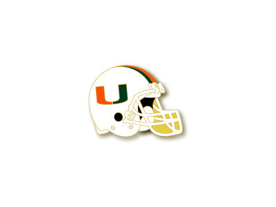 Miami Hurricanes Helmet Pin