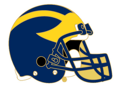 Michigan Wolverines Helmet Pin