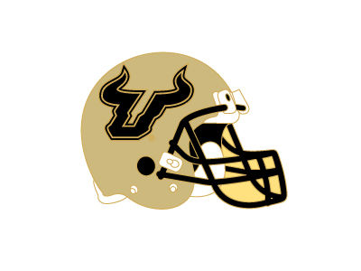 South Florida Bulls Helmet Pin