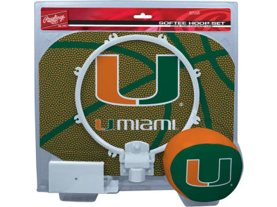 Miami Hurricanes Slam Dunk Hoop Set