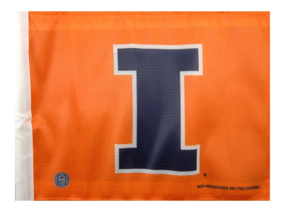 Illinois Fighting Illini Car Flag