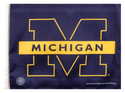 Michigan Wolverines Car Flag