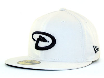 Arizona Diamondbacks New Era MLB White And Black 59FIFTY Cap
