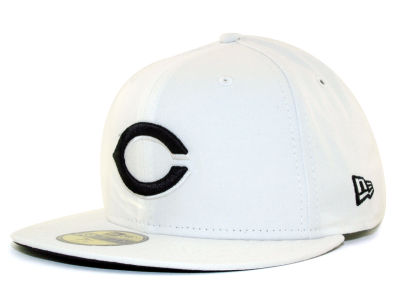 Cincinnati Reds New Era MLB White And Black 59FIFTY Cap