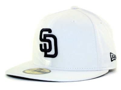 San Diego Padres New Era MLB White And Black 59FIFTY Cap