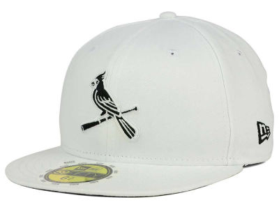 St. Louis Cardinals New Era MLB White And Black 59FIFTY Cap