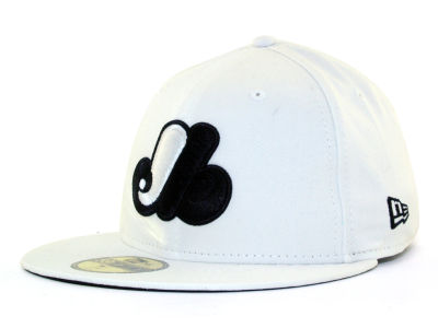 Montreal Expos New Era MLB White And Black 59FIFTY Cap