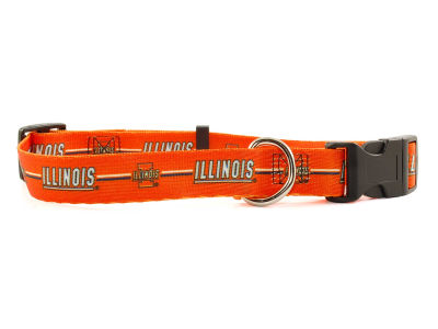 Illinois Fighting Illini Large Dog Collar