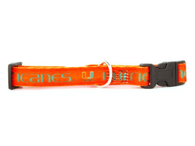 Miami Hurricanes Large Dog Collar
