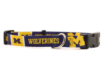 Michigan Wolverines Large Dog Collar