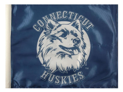 Connecticut Huskies Car Flag