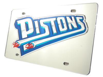 Detroit Pistons Acrylic Laser Tag