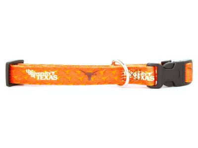 Texas Longhorns Medium Dog Collar