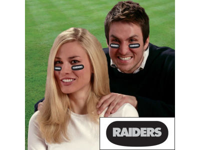 Oakland Raiders Team Eyeblack Strips