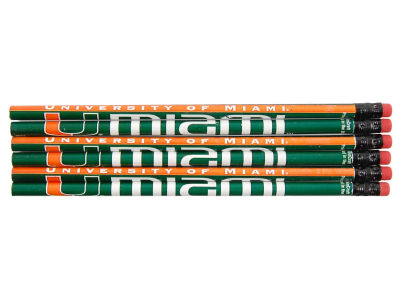 Miami Hurricanes 6-pack Pencils