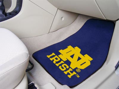 Notre Dame Fighting Irish Car Mats Set/2