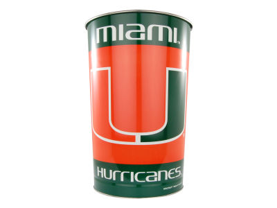 Miami Hurricanes Trashcan
