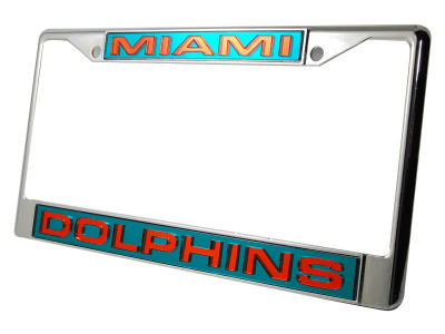 miami dolphins laser frame rico - Miami Dolphins License Plate Frame