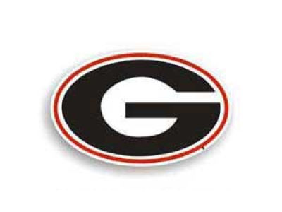 Georgia Bulldogs 8in Car Magnet