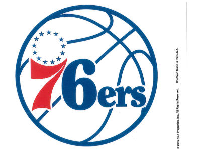 Philadelphia 76ers Static Cling Decal