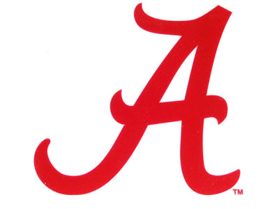 Alabama Crimson Tide Static Cling Decal