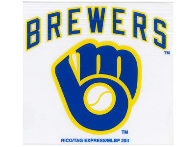 Milwaukee Brewers Static Cling Decal