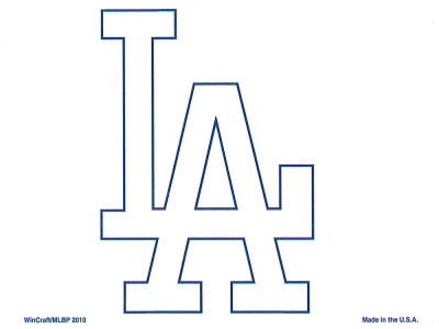 Los Angeles Dodgers Static Cling Decal