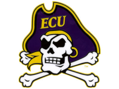 East Carolina Pirates Static Cling Decal