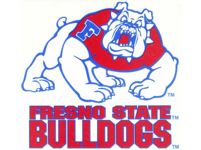 Fresno State Bulldogs Static Cling Decal