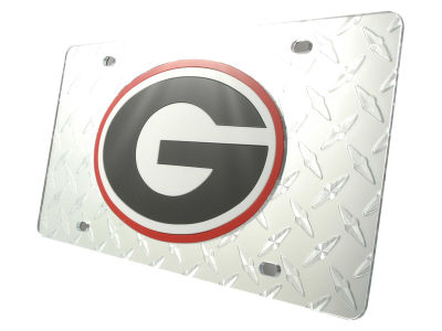 Georgia Bulldogs Diamond Acrylic Laser Tag