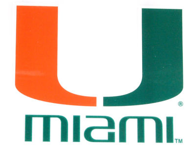 Miami Hurricanes Static Cling Decal