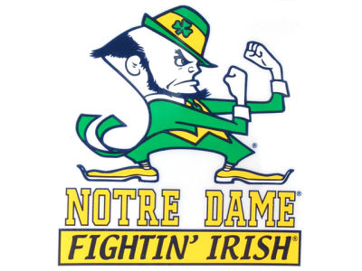 Notre Dame Fighting Irish Static Cling Decal