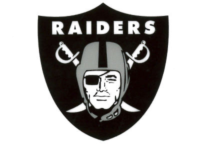 Oakland Raiders Static Cling Decal
