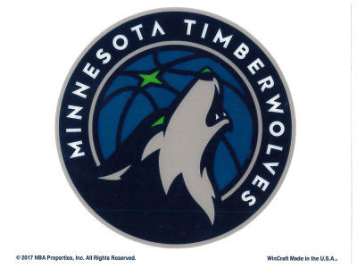 Minnesota Timberwolves Static Cling Decal