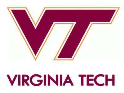Virginia Tech Hokies Static Cling Decal