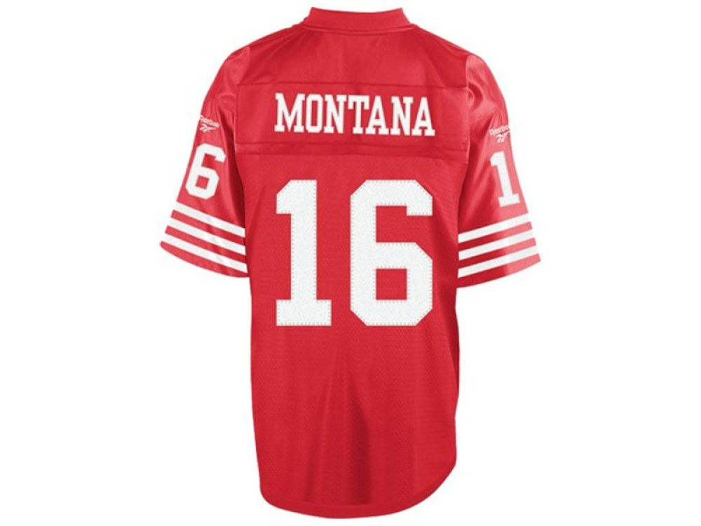 705729279 ... discount san francisco 49ers joe montana reebok nfl retired player  equipment jersey lids d57bb dd5d8