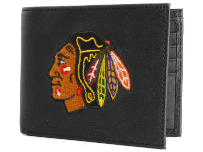 Chicago Blackhawks Black Bifold Wallet