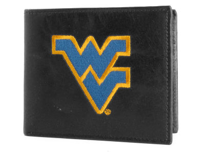 West Virginia Mountaineers Black Bifold Wallet