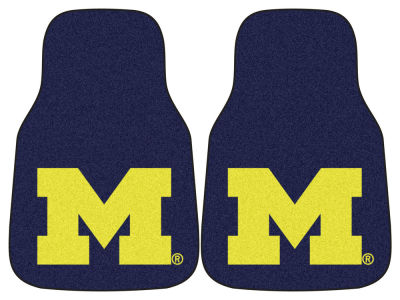 Michigan Wolverines Car Mats Set/2