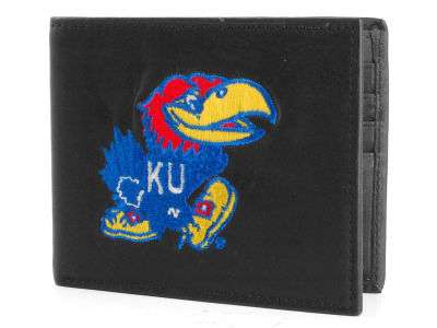 Kansas Jayhawks Black Bifold Wallet