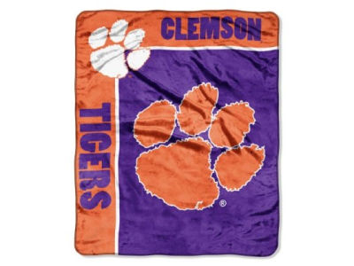 Clemson Tigers 50x60in Plush Throw Blanket