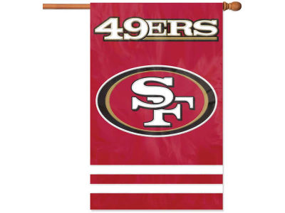 San Francisco 49ers Applique House Flag