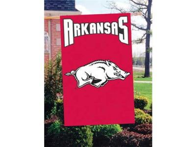 Arkansas Razorbacks Applique House Flag
