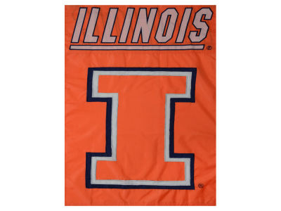 Illinois Fighting Illini Applique House Flag