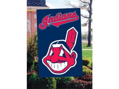 Cleveland Indians Applique House Flag