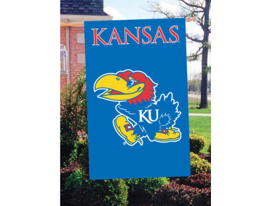 Kansas Jayhawks Applique House Flag